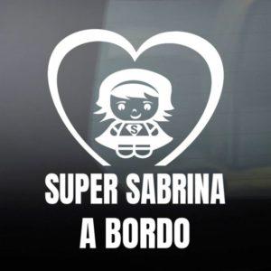 """Pegatina de Vinilo Bebé a Bordo – """"Super Chica"""""""