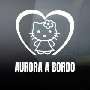 """Pegatina de Vinilo Bebé a Bordo – """"Super Gata"""""""