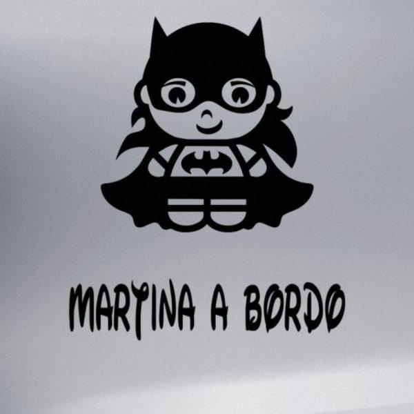 """Pegatina Personalizada """"Bebé a bordo - Super Oscrua"""" en negro"""