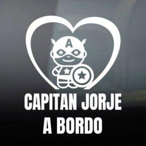 """Pegatina de Vinilo Bebé a Bordo – """"Super Soldado"""""""