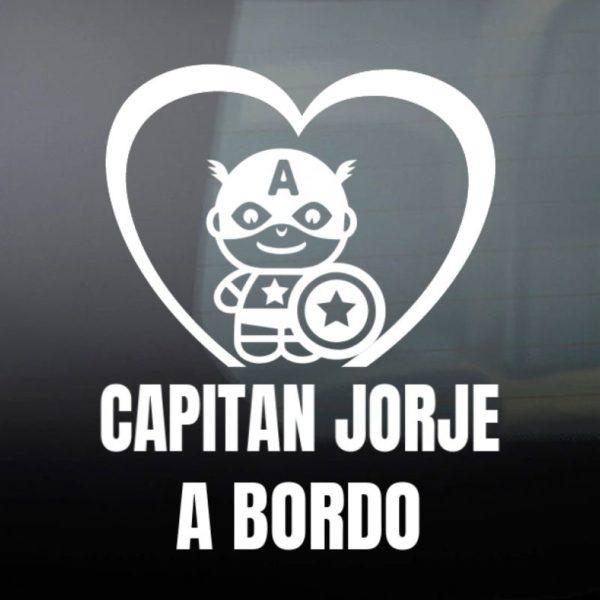"Pegatina personalizada ""Bebé a bordo - Super Soldado"""