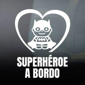 """Pegatina de Vinilo """"Bebé a Bordo – Super Sombra"""""""