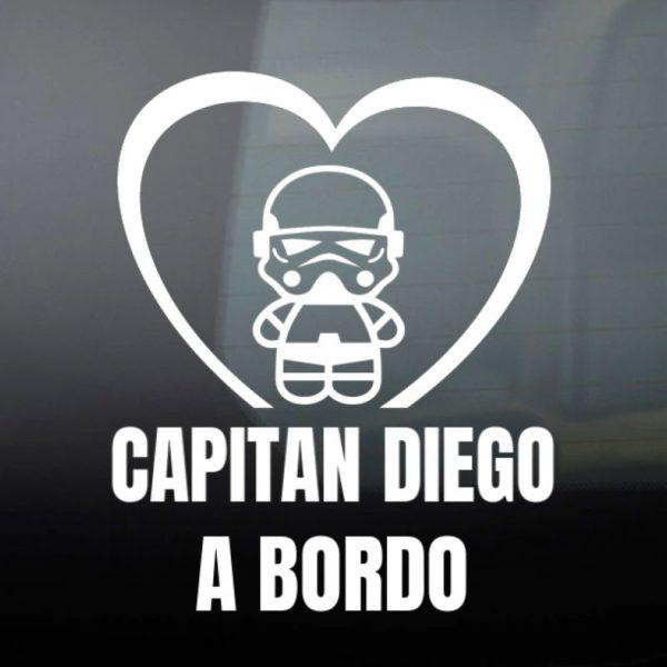"""Pegatina personalizada """"Bebé a bordo - Super Trooper"""""""