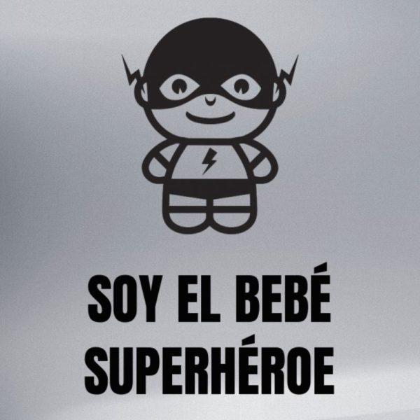 "Pegatina personalizada ""Bebé a bordo - Super Veloz"" en negro"