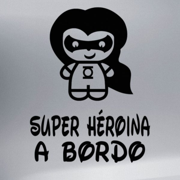 """Pegatina Personalizada """"Bebé a bordo - Super Luz"""" en negro"""