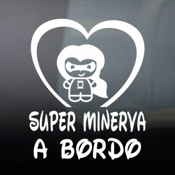 """Pegatina Personalizada """"Bebé a bordo - Super Luz"""""""