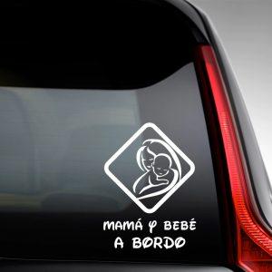 Pegatina de Vinilo  «Mamá y Bebé #1»
