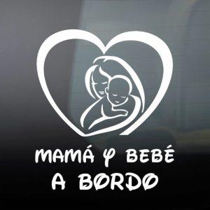 """Pegatina de Vinilo  """"Mamá y Bebé #1"""""""