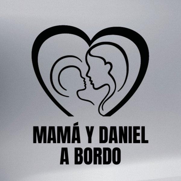Pegatina Bebé a Bordo - Mamá y Bebé #2 en negro