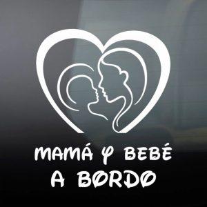 Pegatina de Vinilo  «Mamá y Bebé #2»