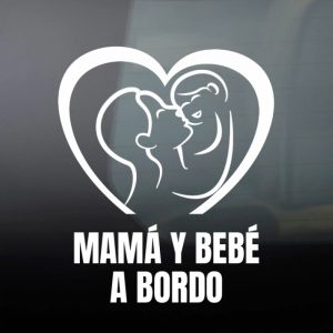 Pegatina de Vinilo  «Mamá y Bebé #3»