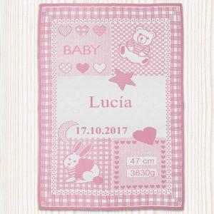 """Manta para bebé personalizada """"Dulces Sueños"""""""