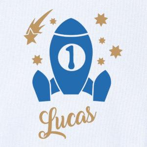 """Camiseta personalizada de cumpleaños """"Cohete Espacial"""""""