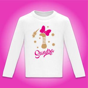 Camiseta personalizada de cumpleaños «Vela con Lazo»