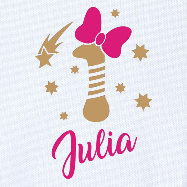"Camiseta Personalizada de cumpleaños ""Vela con Lazo"" Dibujo"