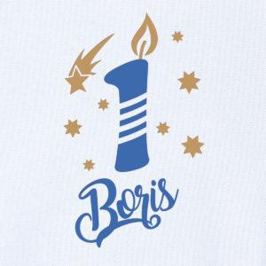 "Camiseta personalizada de cumpleaños ""Vela"""