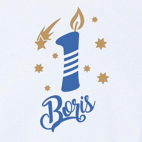 "Camiseta Personalizada de cumpleaños ""Vela"" Dibujo"