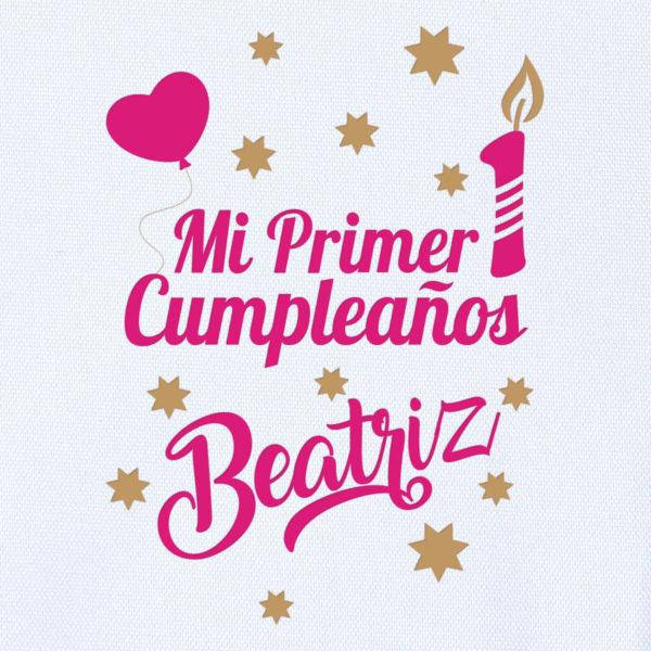 "Camiseta Personalizada ""Mi Primer Cumpleaños"" Dibujo"