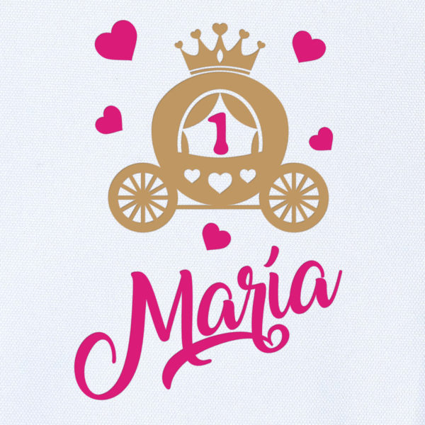 Camiseta Personalizada Cumpleaños Princesa - Dibujo