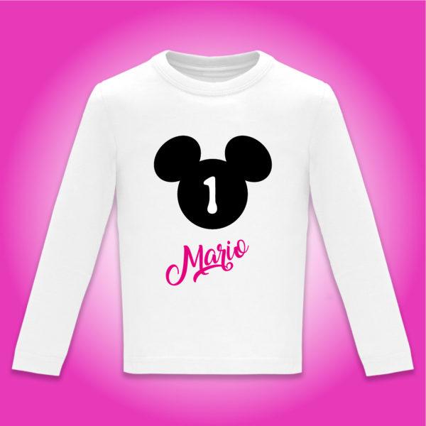 """Camiseta personalizada cumpleaños """"Día de Cine"""" Negro y Fucsia"""