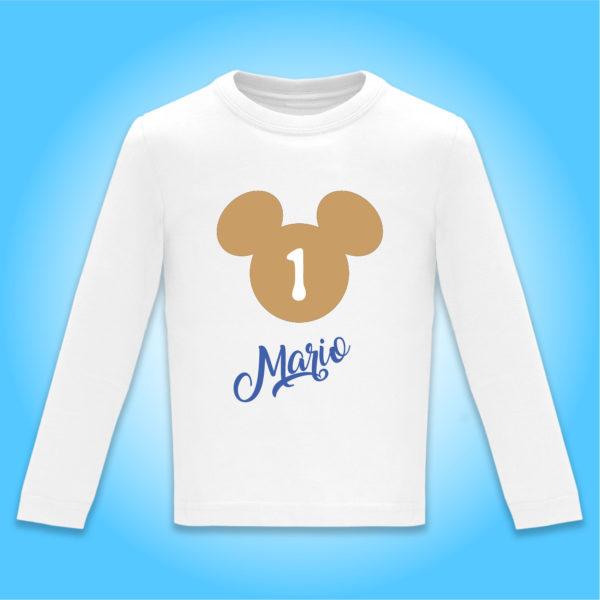 """Camiseta personalizada cumpleaños """"Día de Cine"""" Oro y Azul"""