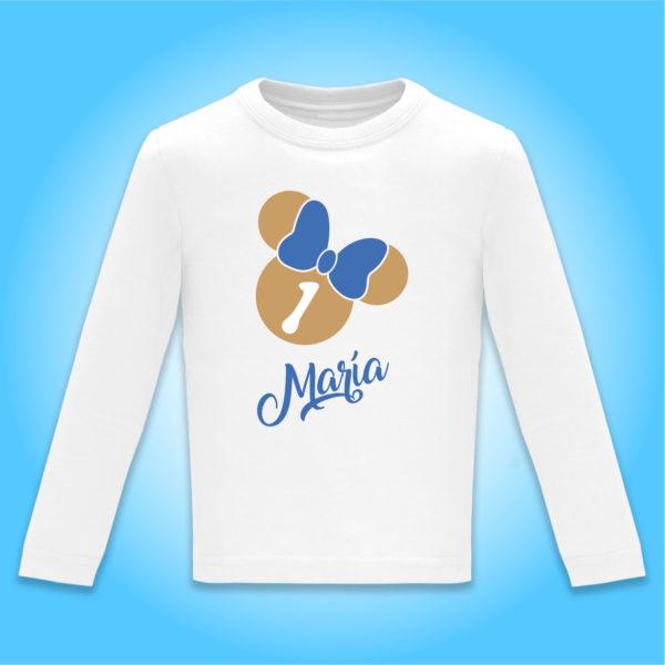 """Camiseta personalziada cumpleaños """"Dia de Pelicula"""" Oro y Azul"""