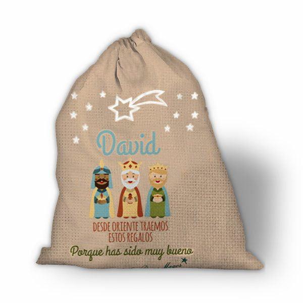Saco de navidad personalizado Los Reyes del Oriente