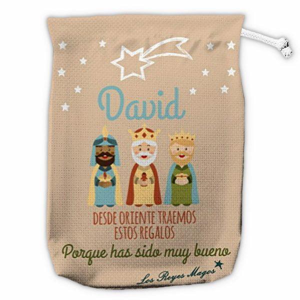 Saco de navidad personalizado Los Reyes del Oriente vacío