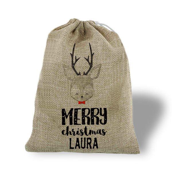 Saco de navidad personalizado Merry Christmas