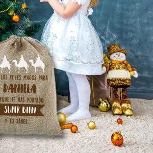 """Saco de navidad personalizado """"Regalos del Oriente"""""""