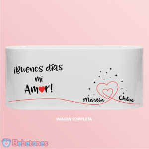 """Taza personalizada """"Buenos días Amor"""""""
