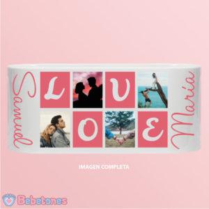 """Taza personalizada con foto """"Love"""""""