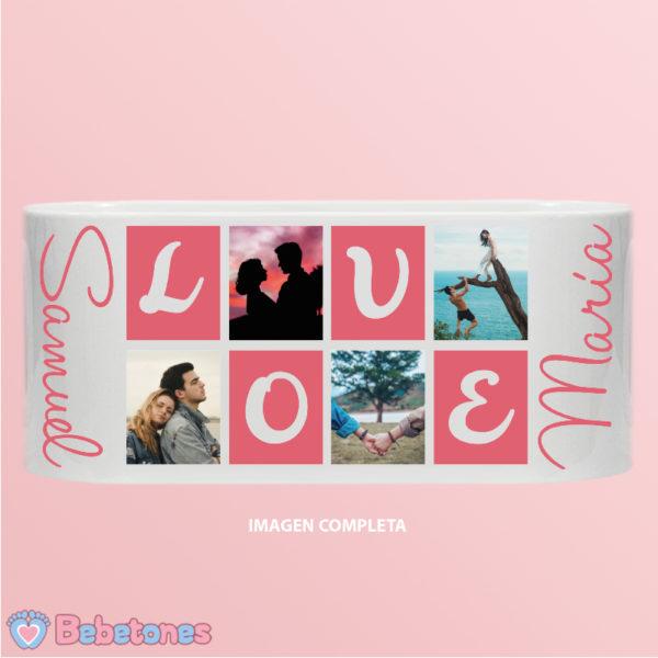 """Taza personalizada """"Love"""" imagen completa"""