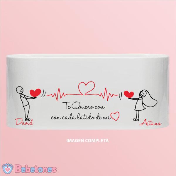 """Taza personalizada """"Cada latido de mi corazón"""" imagen completa"""