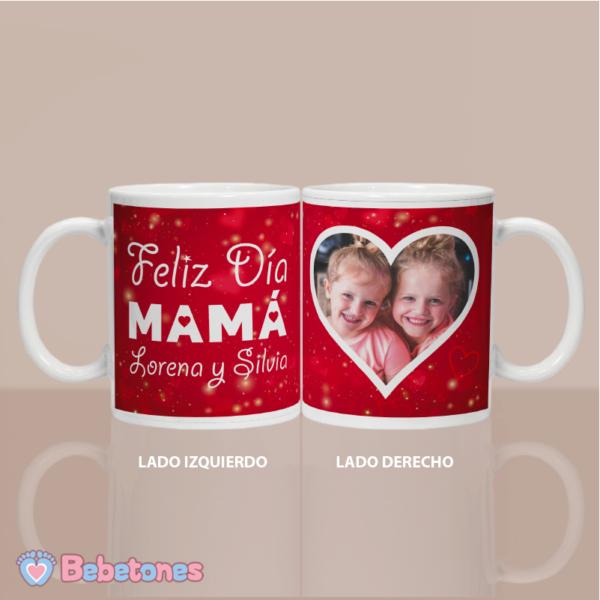 """Taza personalizada """"Felíz día Mamá"""" - los dos lados"""