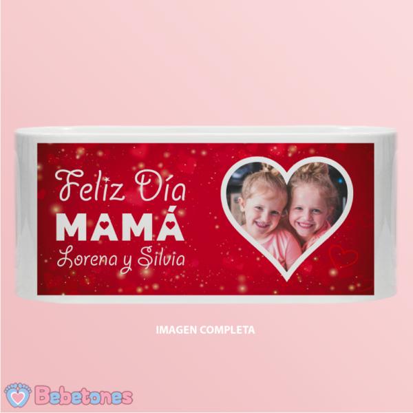 "Taza personalizada ""Felíz día Mamá"" - imagen completa"