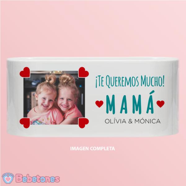 """Taza personalizada """"Una foto con amor para mamá"""" - imagen completa"""