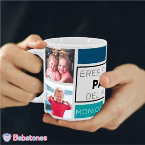 """Taza personalizada con foto """"Papá eres el mejor"""""""