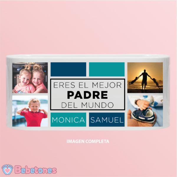 """Taza personalizada con foto """"Papá eres el mejor"""" - imagen completa"""