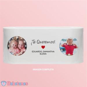 """Taza personalizada con foto """"Amor de Hijos"""""""