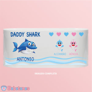 "Taza personalizada ""Daddy Shark"""