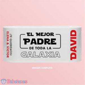 """Taza personalizada """"El mejor padre de toda la Galaxia"""""""