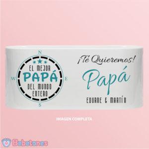 """Taza personalizada """"El mejor papá del mundo"""""""