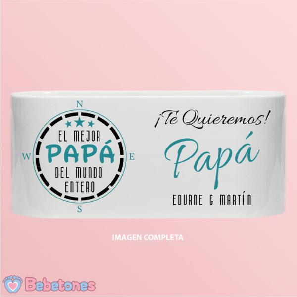 """Taza personalizada """"El mejor papá del mundo"""" - imagen completa dos niños"""