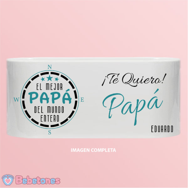 """Taza personalizada """"El mejor papá del mundo"""" - imagen completa un niño"""