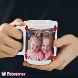 """Taza personalizada con foto """"Una foto con amor para Papá"""""""