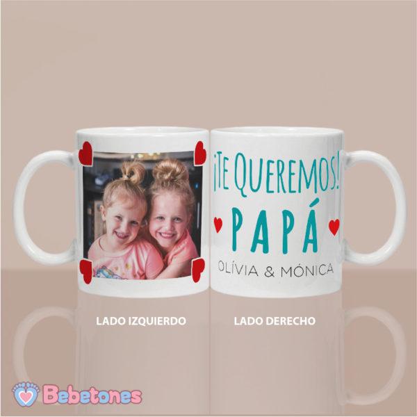 """Taza personalizada """"Una foto con amor para Papá"""" - ambos lados"""