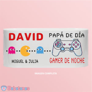 "Taza personalizada ""Papá Gamer – Retro Gamer"""