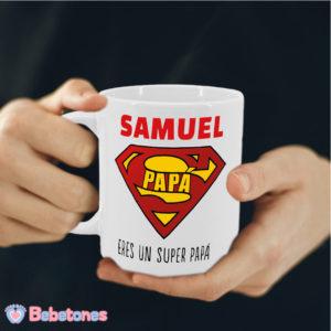 """Taza personalizada """"Super Papá"""""""